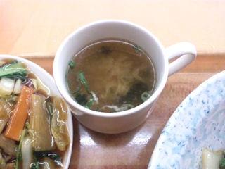酢豚定食のスープ