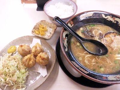 麺屋ドラゴン桜揚げシュウマイ定食