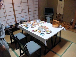 越前蟹フルコースを食べた部屋