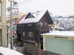 三国温泉なかもと朝窓からの風景
