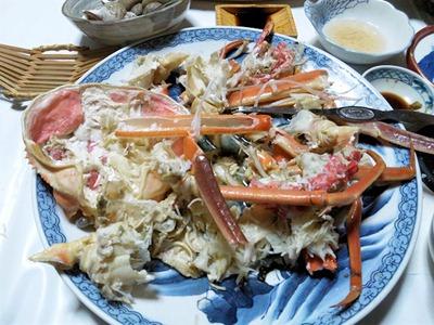 越前蟹フルコース蟹のみを解した様子