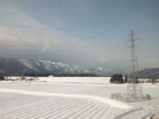 サンダーバード23号車窓函館山方面