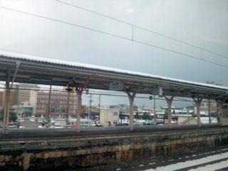 サンダーバード23号車窓敦賀駅