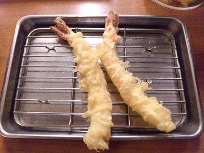 天ぷら定食まきの西神戸店えび・あなご天定食えび2尾