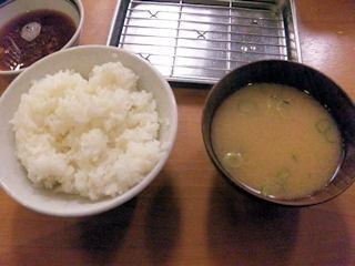 天ぷら定食まきの西神戸店ご飯と味噌汁