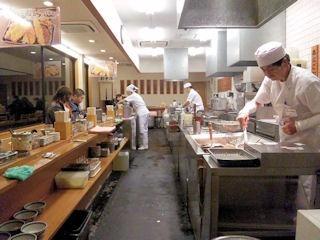 天ぷら定食まきの西神戸店の店内