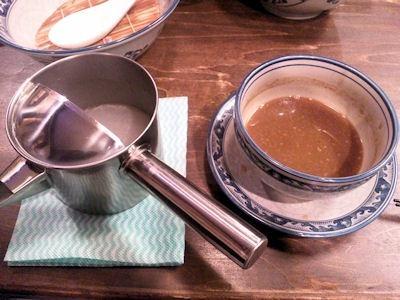 桔梗屋醤油つけ麺のスープ割り