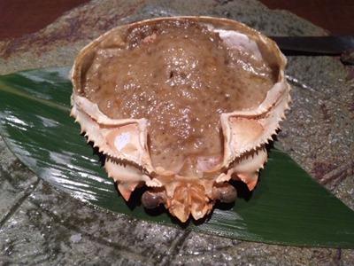 KI・CHI・RI蟹身たっぷり蟹味噌甲羅焼き