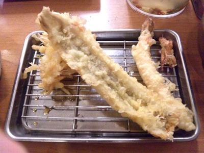 天ぷら定食まきの西神戸店えび・あなご天定食あなご