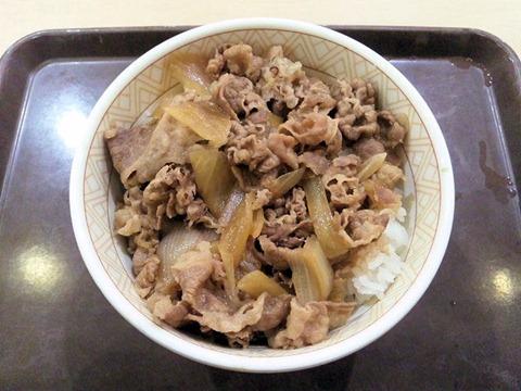 すき家の感謝祭の日の牛丼