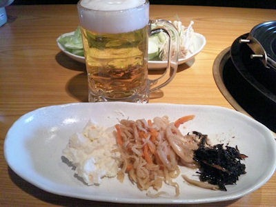 但馬屋惣菜と無料の生ビール