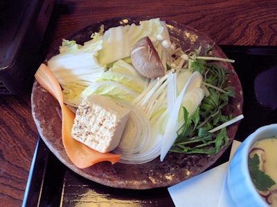 しゃぶしゃぶ・すきやき清水スペシャルしゃぶランチの野菜