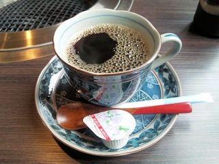 炭火焼肉みきや日替りサービス(コロッケ&ミンチカツ)定食のコーヒー