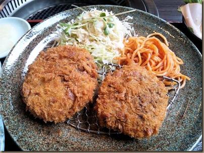 炭火焼肉みきや日替りサービス(コロッケ&ミンチカツ)