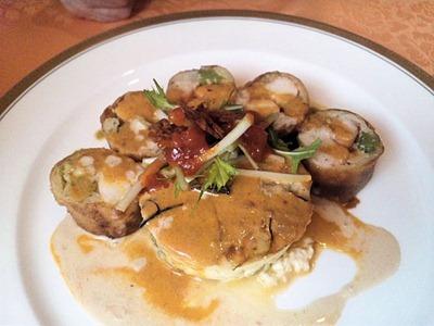 レストランアジュール甲殻類の料理