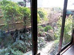うなぎ将棋屋和室の庭