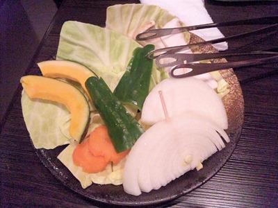 炭火焼肉みきや焼き野菜