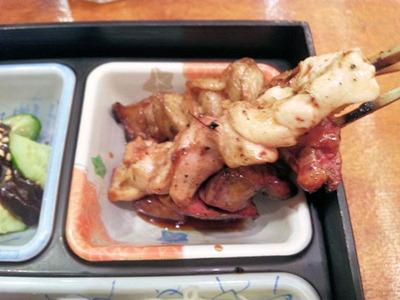 鳥光/三宮さんプラザ店特製弁当の焼鳥3種