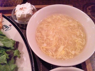 AsianDiningLen日替わりセットの卵スープ