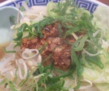 大盛軒加古川店元祖角ふじ麺の肉味噌