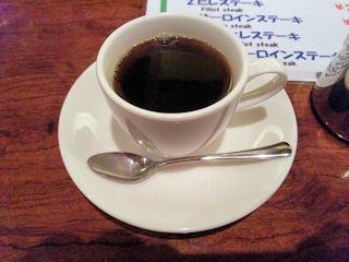 ビフテキのHibioステーキランチの食後のコーヒー