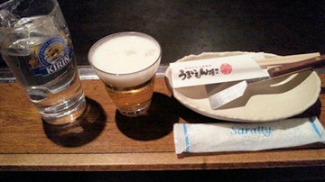 うまいもん横丁/高砂店とろじゅう焼定食のグラスビール