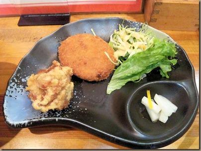 京風ラーメンめんくい亭日替り定食のおかず