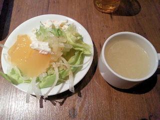 ステーキ&ハンバーグ・ひろ サラダとスープ