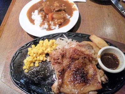 ステーキ&ハンバーグ・ひろ チキンステーキとカレー
