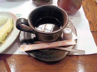 生州割烹輝高食後のコーヒー