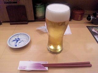 廻転寿司CHOJIRO生ビール