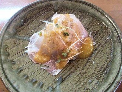 kitchenKATO自家製ハンバーグランチの生ハムサラダ