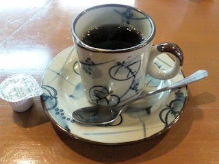 kitchenKATO自家製ハンバーグランチのコーヒー