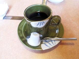 Aランチの食後のコーヒー