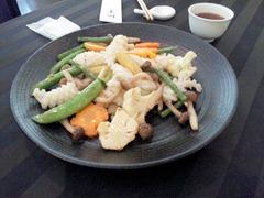 桃李ヤリイカと季節野菜のあっさり炒め