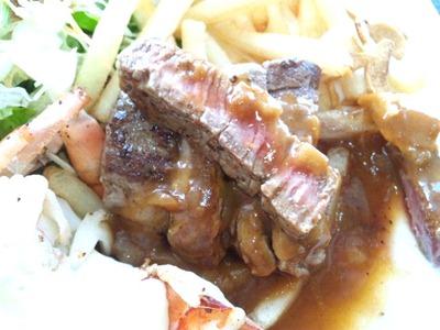 ビーフレストラン神蔓スペシャルランチのステーキの焼き加減