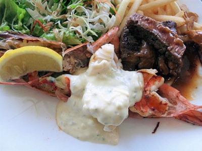 ビーフレストラン神蔓スペシャルランチの大海老