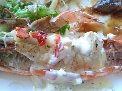 ビーフレストラン神蔓スペシャルランチの大海老の身