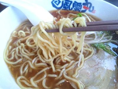 風雲丸和風中華そばの麺