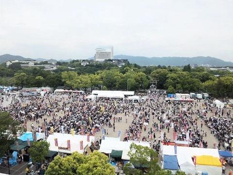 近畿・中国・四国B-1グランプリin姫路イーグレの屋上からの風景