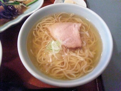 白鳳レバニラ炒め定食のミニラーメン