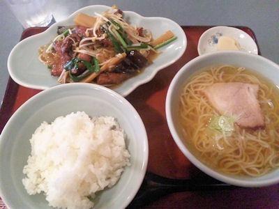 白鳳レバニラ炒め定食
