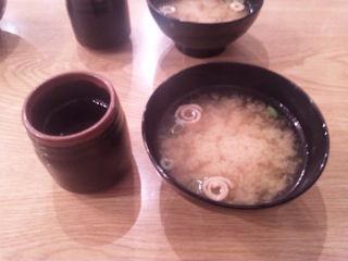 喫茶エデンエビ&カツライスの味噌汁