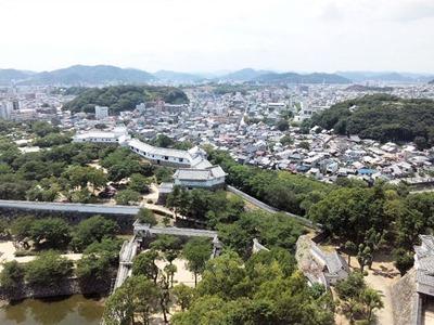 姫路城天空の白鷺見学ツアー_城西側の景色