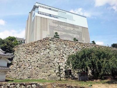 姫路城天空の白鷺見学ツアー_真下から見たお城