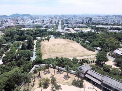 姫路城天空の白鷺見学ツアー_駅方面の景色
