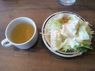 ステーキガスト/スープとサラダ
