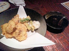 くしや もつや ぶっちぎり秋鮭白子天ぷら