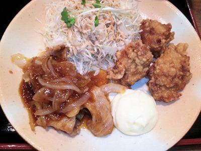 街かど屋/唐揚げと豚生姜焼き