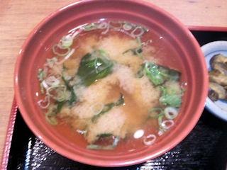 街かど屋/唐揚げと豚生姜焼き定食の味噌汁